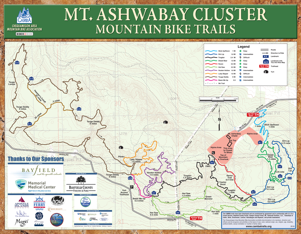 Mountain Bike Trails at Ashwabay